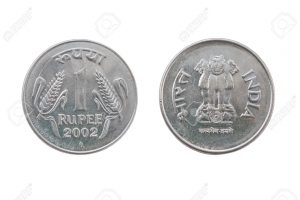 One Indian Rupee coin