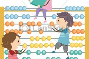 abacus for kids clipart 8
