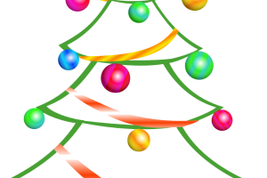 abstract christmas tree clipart 1