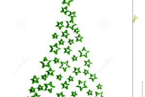 abstract christmas tree clipart 4