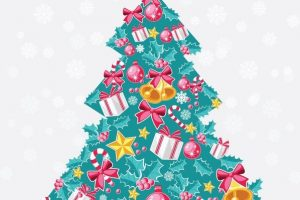 abstract christmas tree clipart 6