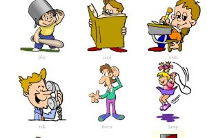 action words clipart 8