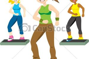 aerobic exercise clipart 7