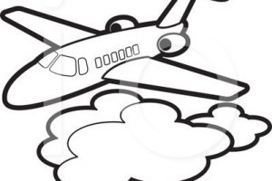 aeroplane clipart black and white 2