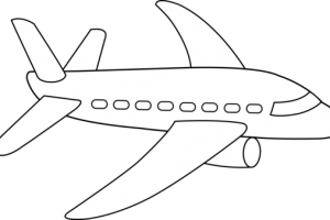 aeroplane clipart black and white
