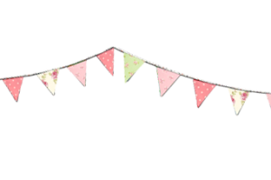 afternoon tea bunting clipart 1