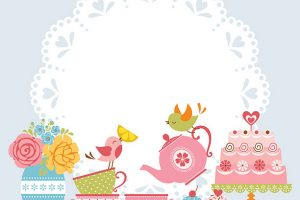 afternoon tea clipart 6