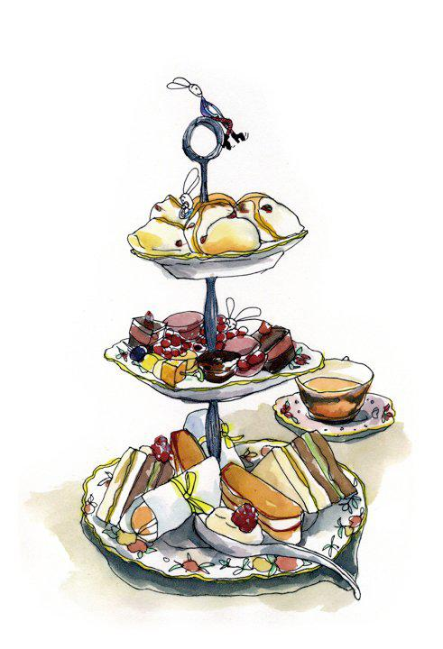 Cake Stand Drawing