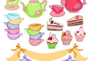 afternoon tea party clipart 11