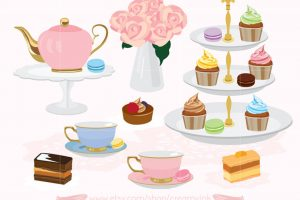 afternoon tea party clipart 3