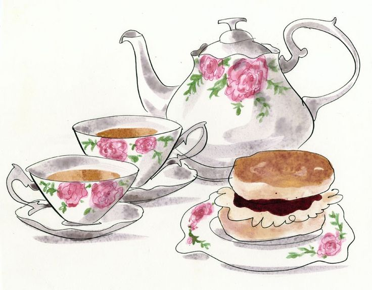 Afternoon tea party clipart 5 » Clipart Station