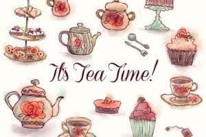 afternoon tea party clipart 7