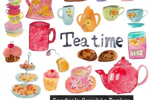 afternoon tea party clipart 9