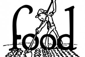 agriculture clipart black and white 5