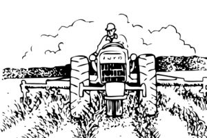 agriculture clipart black and white 6