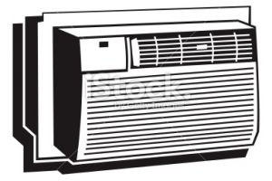 air conditioner clipart black and white