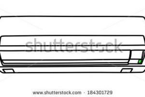 air conditioner clipart black and white 5