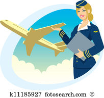 air hostess clipart 1