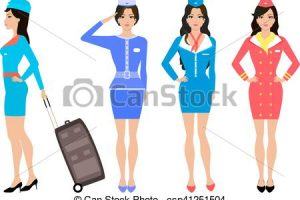 air hostess clipart 10