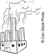 air pollution clipart black and white 9