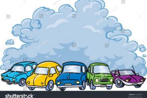 air pollution from cars clipart 7