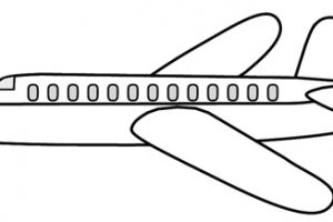 airplane clipart black and white 1