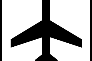 airport clipart black and white 1