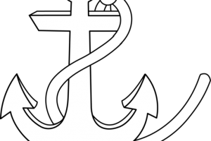 anchor clipart black and white 1