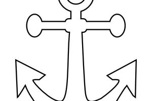 anchor clipart black and white 2