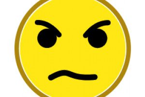 angry face clipart 2