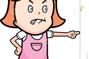 angry girl clipart 7