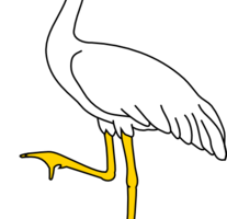 animal crane clipart