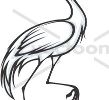 animal crane clipart 4