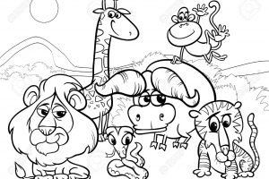 animals clipart black and white 3