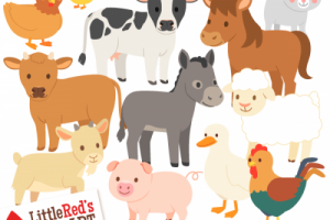 animals live in land clipart 1
