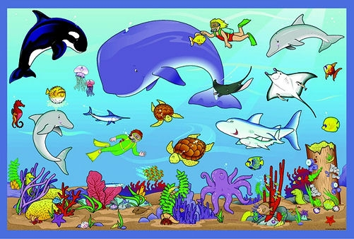 Animals live in water clipart 5 » Clipart Station