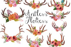 antlers clipart 6