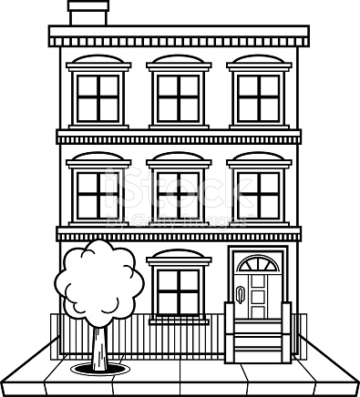 apartment building clipart black and white 5 | Clipart Station