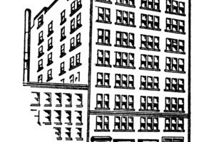 apartment building clipart black and white 6