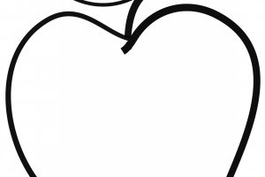 apple clipart black and white 1