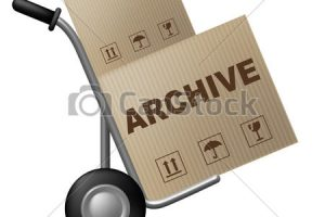 Archive Package Represents Packaging Archiving And Cataloguing