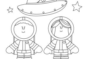 astronaut on moon clipart 1