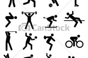 athletics clipart black and white 2