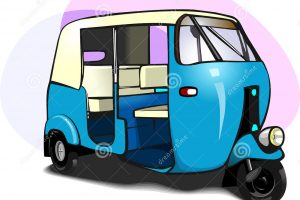 auto rickshaw clipart black and white 6