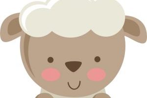 baby sheep clipart 2