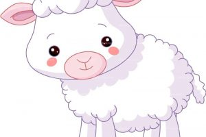 baby sheep clipart 4
