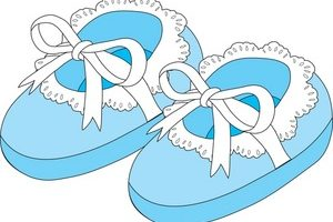 baby shoes clipart 5