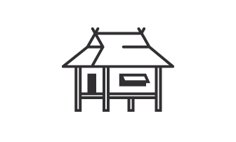 Bahay Kubo Clipart Black And White 1