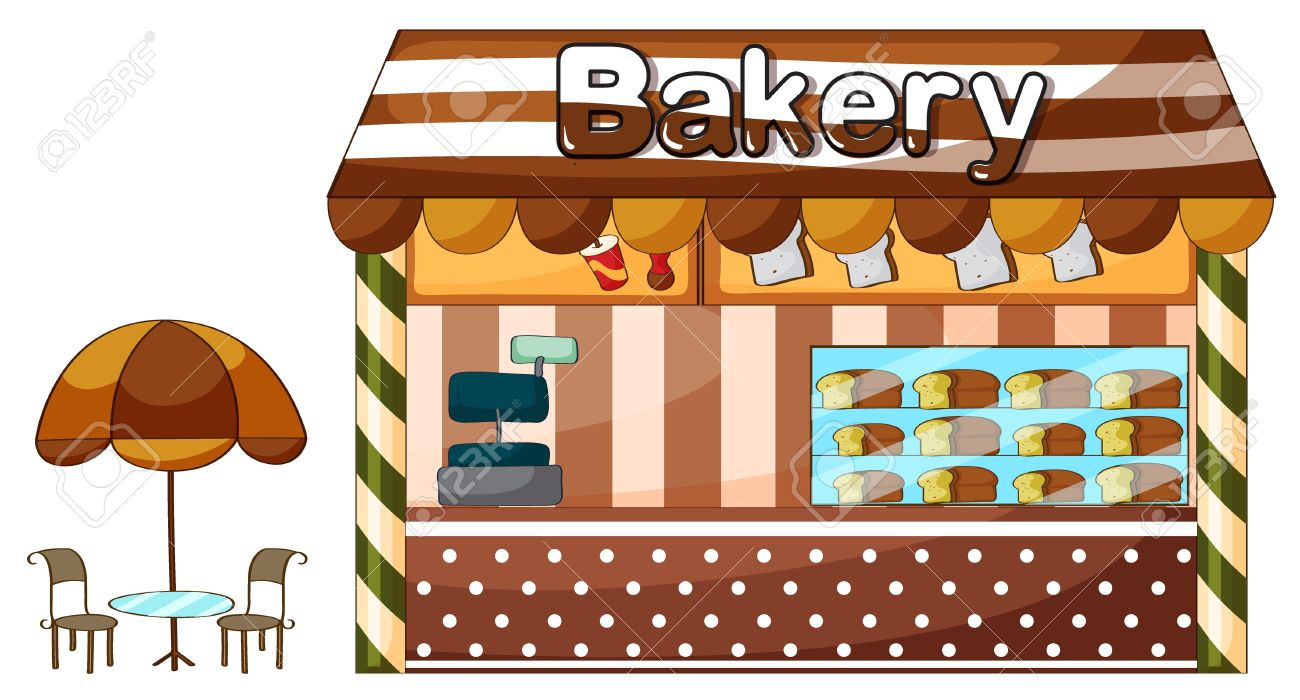 Bakery Building Clipart 5