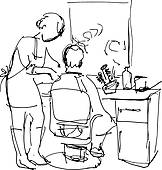 Barber Clipart Black And White 12